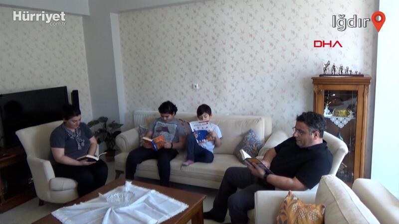 Iğdır'da 'ben de ailemle kitap okuyorum' projesi