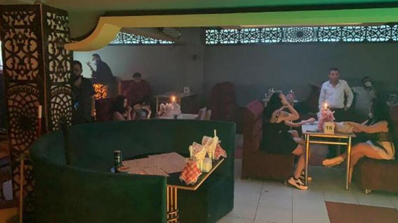 Konya'da eğlence mekanına baskında 45 kişiye ceza