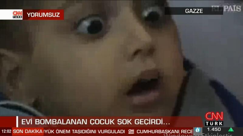 Evi bombalanan çocuk şok geçirdi