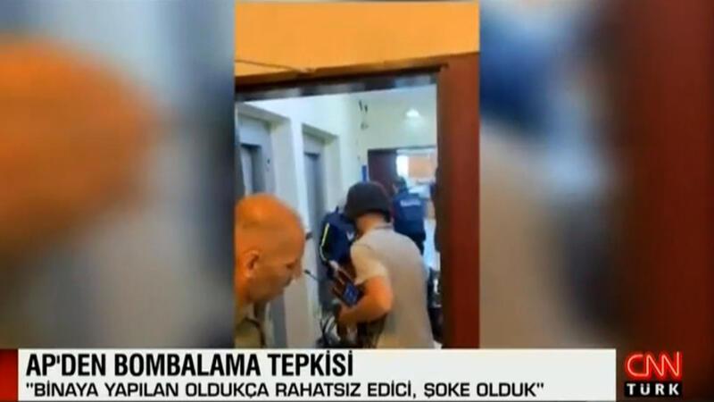 AP çalışanları bombalama öncesi binadan böyle kaçtı