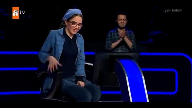Betül Yoğurtçu Kim Milyoner Olmak İster yarışmasına damga vurdu