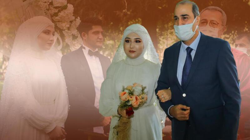 Şehit kızı, nikah masasına emniyet müdürünün kolunda gitti