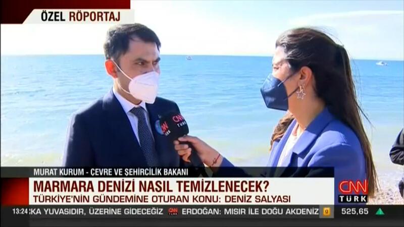 Bakan Kurum, Marmara Denizi'ndeki müsilaj tehlikesiyle ilgili konuştu