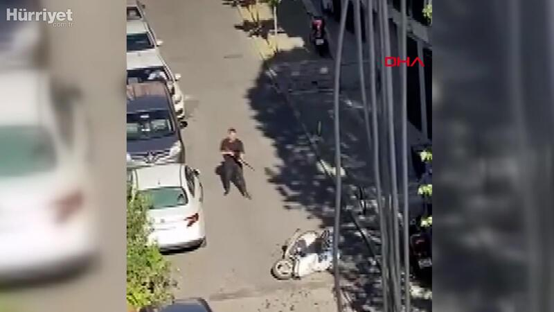 Şişli'de şehir eşkiyalarının çatışması kamerada