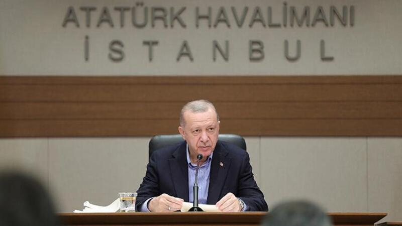 Cumhurbaşkanı Erdoğan, NATO Zirvesi için Brüksel'e gitmeden önce basın toplantısı düzenledi