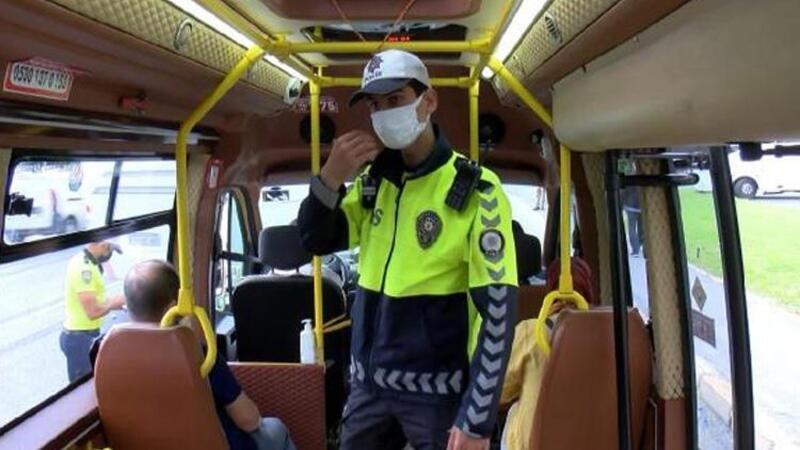 Fatih'te toplu taşıma araçlarında koronavirüs denetimi