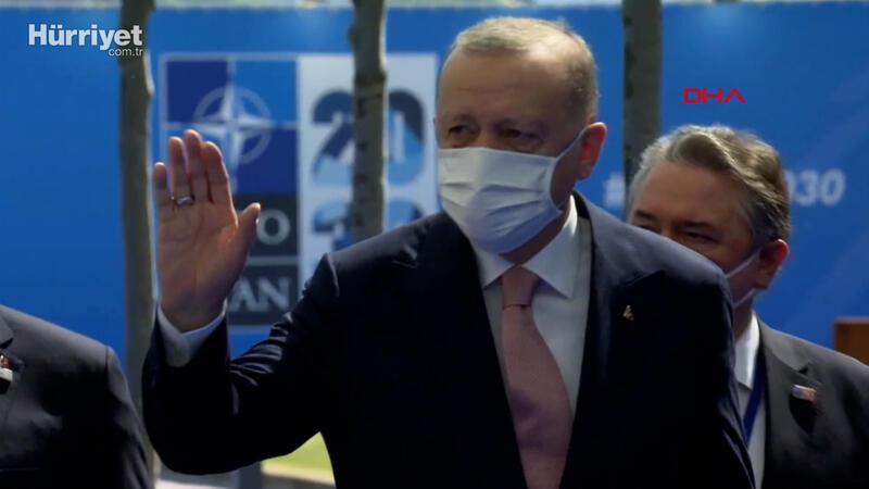 Cumhurbaşkanı Erdoğan, NATO Liderler Zirvesi'nin yapılacağı merkeze geldi