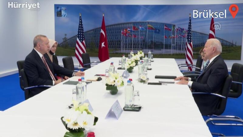 Cumhurbaşkanı Erdoğan, ABD Başkanı Biden ile bir araya geldi