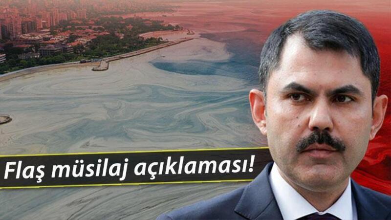 Bakan Murat Kurum'dan müsilaj açıklaması