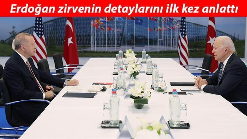 Cumhurbaşkanı Erdoğan, Biden görüşmesinin detaylarını ilk kez anlattı