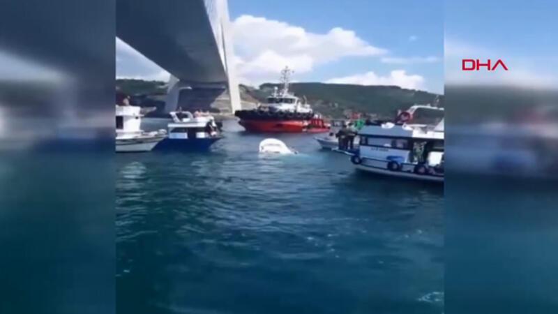 İstanbul'da balıkçı teknesine gemi çarptı