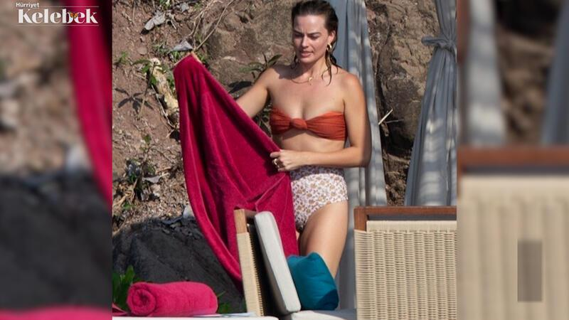 Margot Robbie ve Tom Ackerley'in plaj keyfi