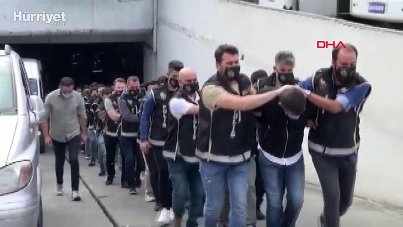 """""""Nuriş kardeşler"""" operasyonunda gözaltına alınanlar adliyeye sevk edildi"""