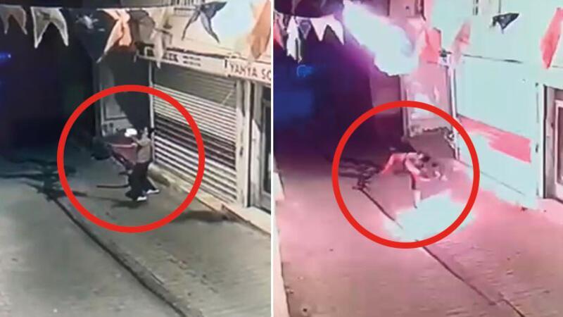 Diyarbakır'ın Hani ilçesinde Ak Parti ilçe binasına bir kişi tarafından molotof kokteyl atıldı