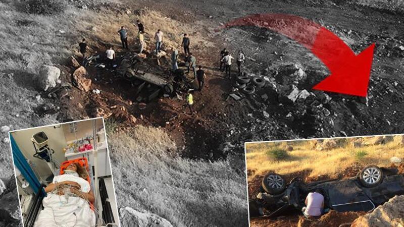 Otomobili uçuruma yuvarlandı, sürücü ertesi gün fark edilip çıkarıldı