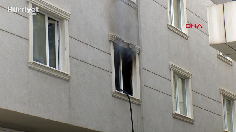 Ümraniye'de evde yangın; anne öldü 7 yaşındaki çocuğu ağır yaralandı