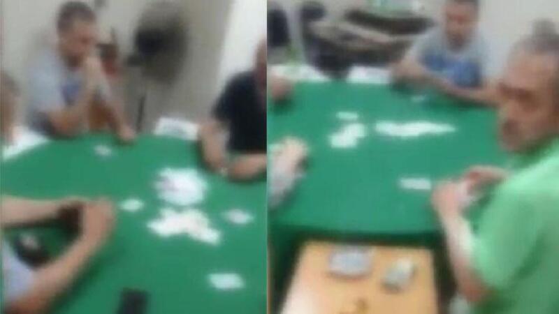 İstanbul'da kıraathaneye kumar baskını kamerada