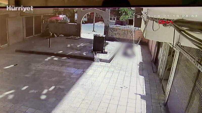 Tartıştığı kişi silah çekince 7'nci kattan atladı; o anlar kamerada