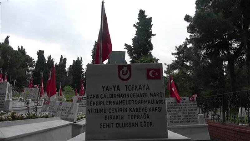 Samsun'da şehitlikteki Türk bayrağı ve direği çalan hırsızlar, yakalandı