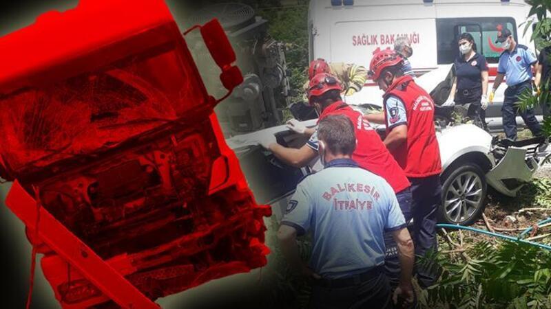 Balıkesir'de zincirleme trafik kazası! 3 kişi öldü, 3 kişi yaralandı