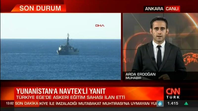 Türkiye'den Ege Denizi'nin uluslararası sularında NAVTEX ilanı