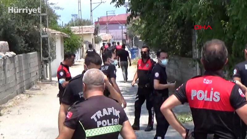 Ailesiyle kavga etti, müdahale eden polisi bıçakladı