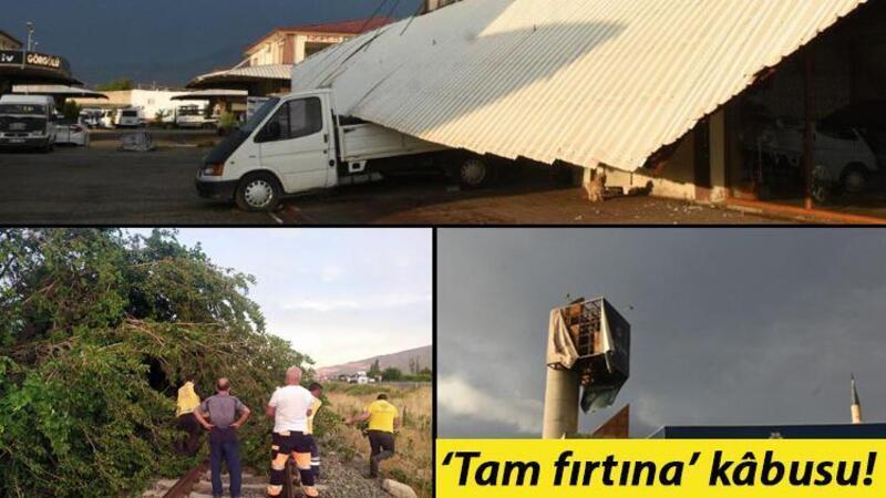 Şiddetli fırtına Nazilli'de yaşamı olumsuz etkiledi