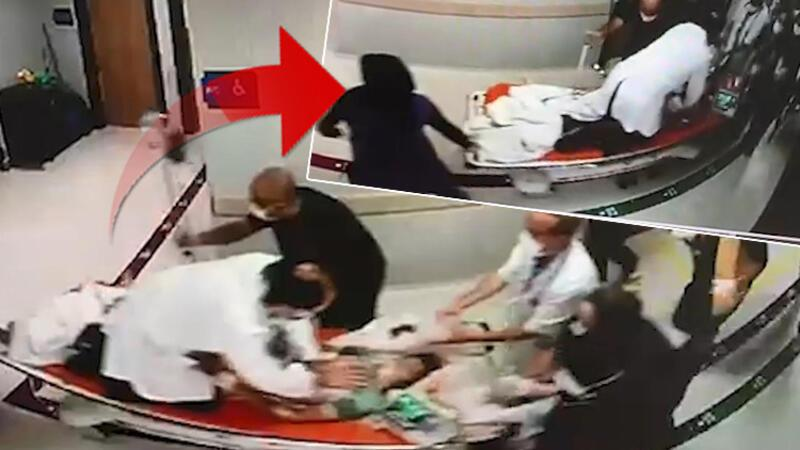 Kalbine 13 santim korkuluk demiri giren çocuğa sedye üzerinde hayat kurtaran müdahale