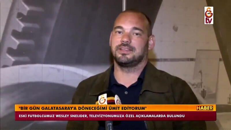 Wesley Sneijder: Galatasaray'ı destekliyor olacağım