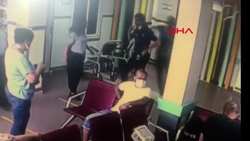 Yardım istediği polisin tabancasını alıp kaçmaya çalıştı