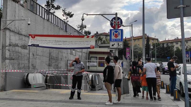 Eyüpsultan'da metro aracında çıkan yangın seferleri aksattı