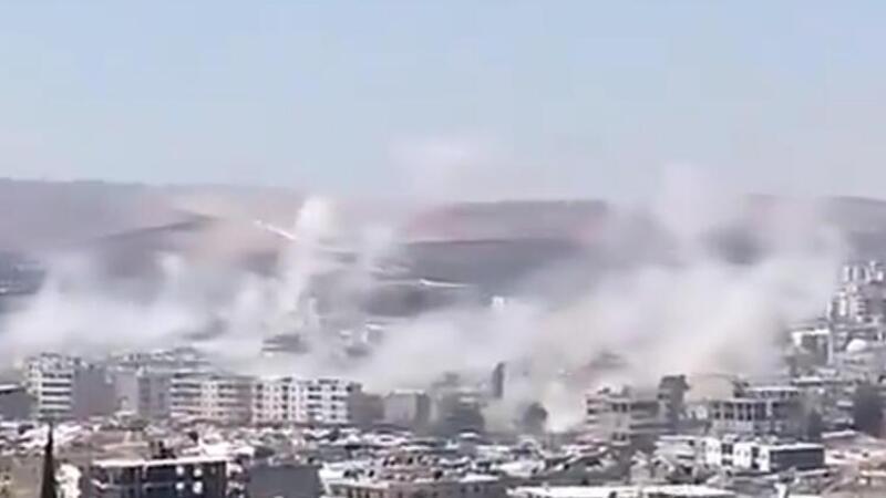 Tel Rıfat'taki YPG/PKK'lı teröristlerin Afrin'e saldırısında 7 sivil yaralandı
