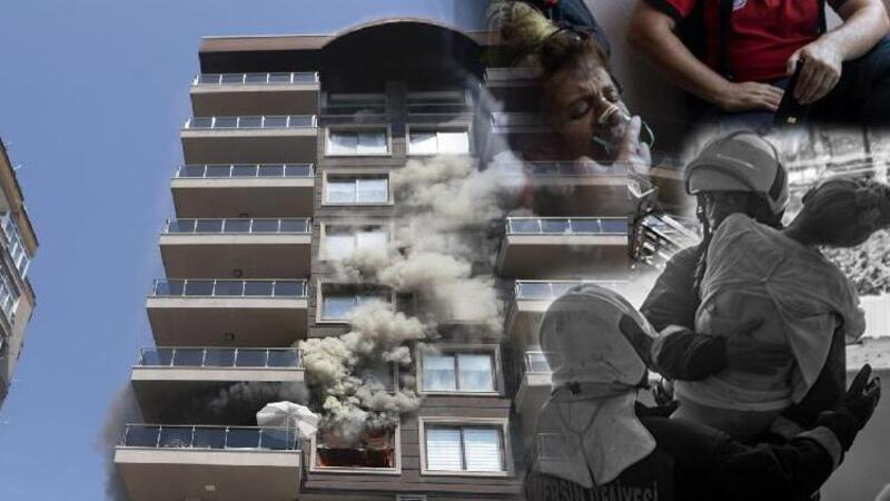 Apartmanın 4'üncü katında yangın paniği