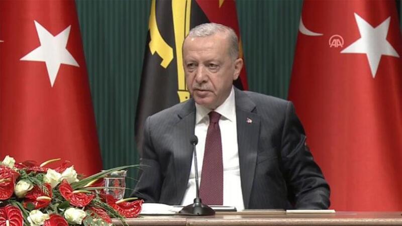 Cumhurbaşkanı Erdoğan, Angola Cumhurbaşkanı Laurenço ile ortak basın toplantısı düzenledi