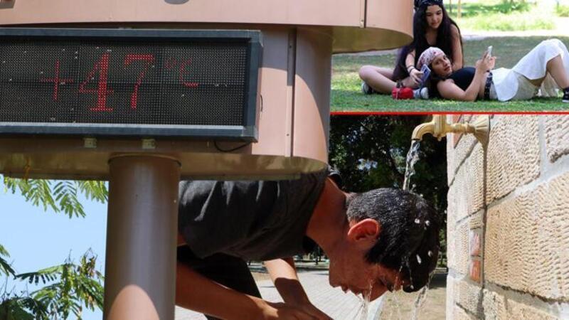 Adana'da termometreler 47 dereceyi gösterdi