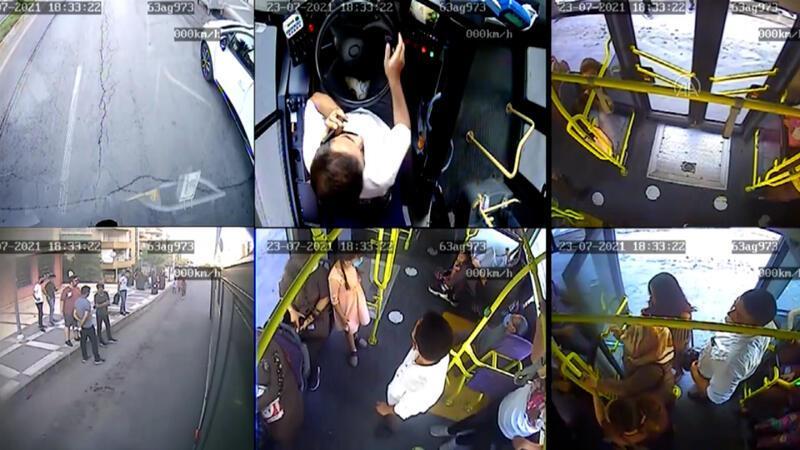 Otobüs şoförü, araçta fenalaşan kişiyi hastaneye yetiştirdi