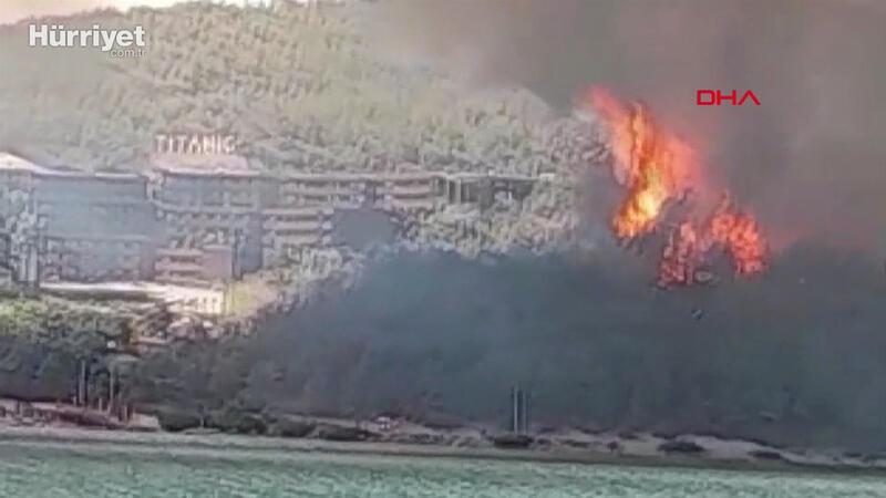 Milas'ta ormanlık alanda yangın çıktı