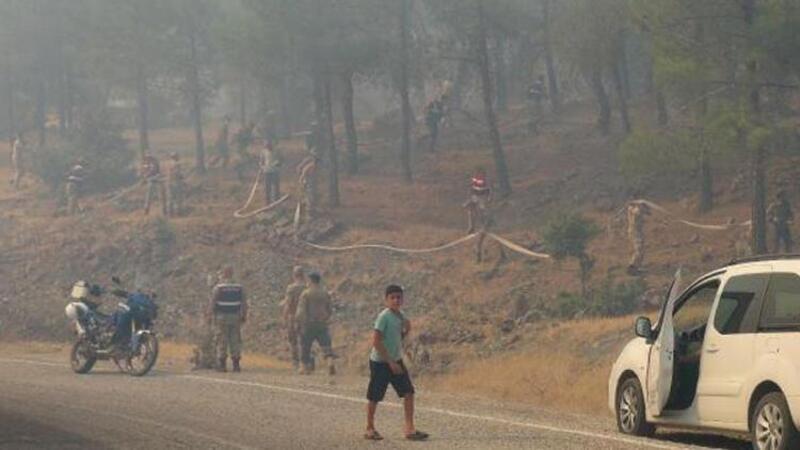 Kilis'te orman yangını! Askerler bölgeye geldi