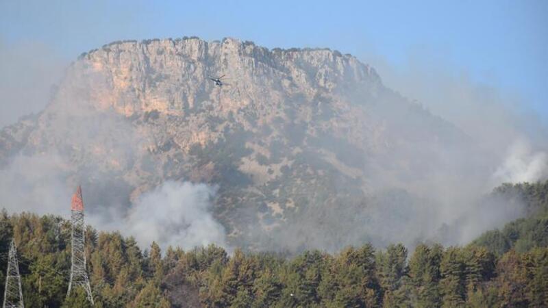 Adana Kozan'daki orman yangınına müdahale sürüyor
