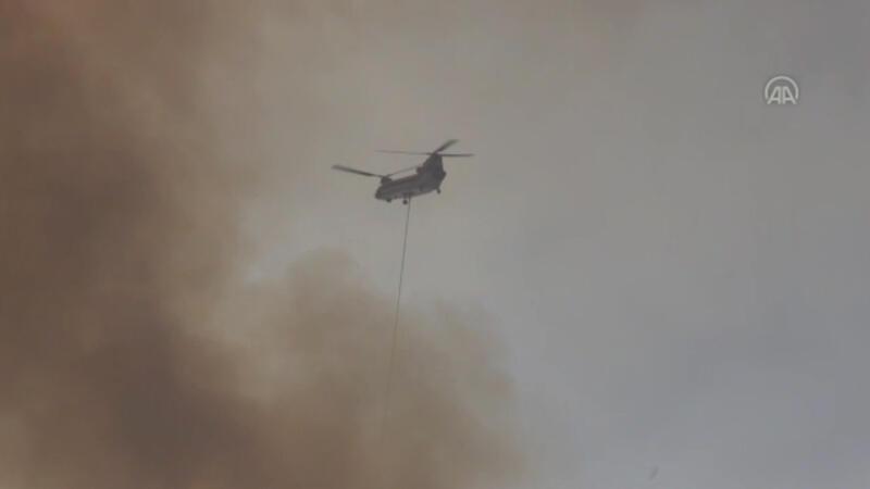 Aladağ'daki orman yangınına müdahale ediliyor