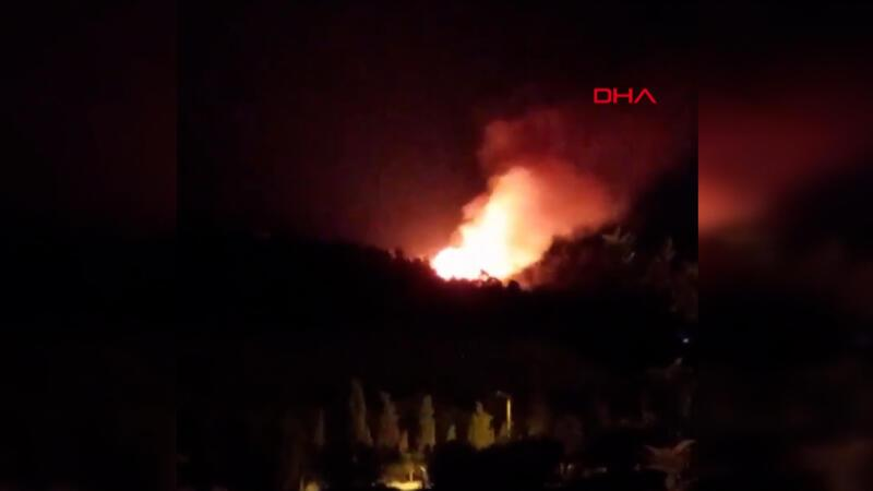 Manisa Soma'daki orman yangını kontrol altında