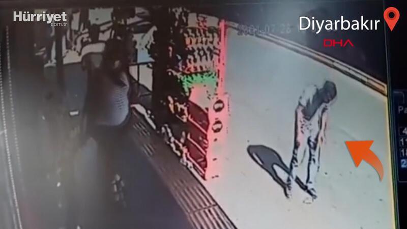 Dondurma külahını yere atınca bıçaklandı! Diyarbakır'da dehşet anları kamerada