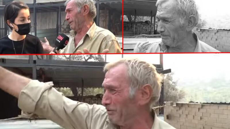Manavgat'taki yangında köylünün evi küle döndü... Gözyaşlarıyla anlattı