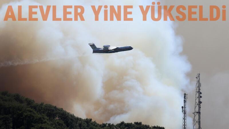 Marmaris Hisarönü'nde orman yangını