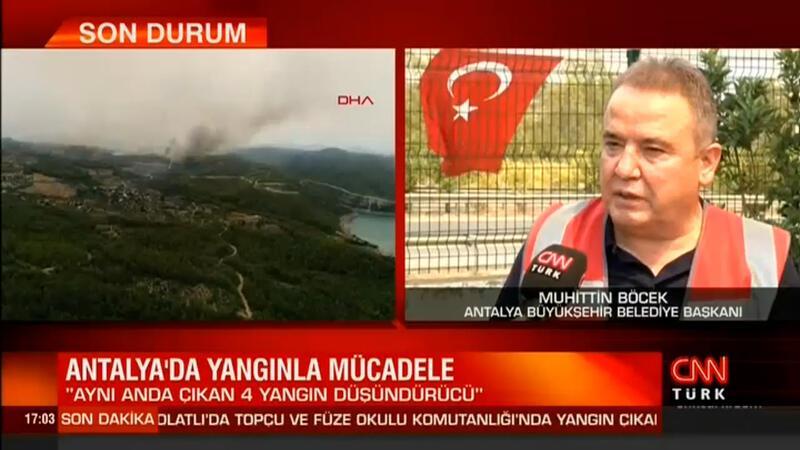 Antalya Büyükşehir Belediye Başkanı Muhittin Böcek, Manavgat'taki son durumu canlı yayında açıkladı