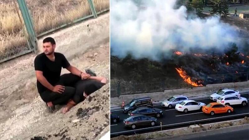 Polatlı'da kışla içinde yangın çıkaran şahış tutuklanarak cezaevine gönderildi