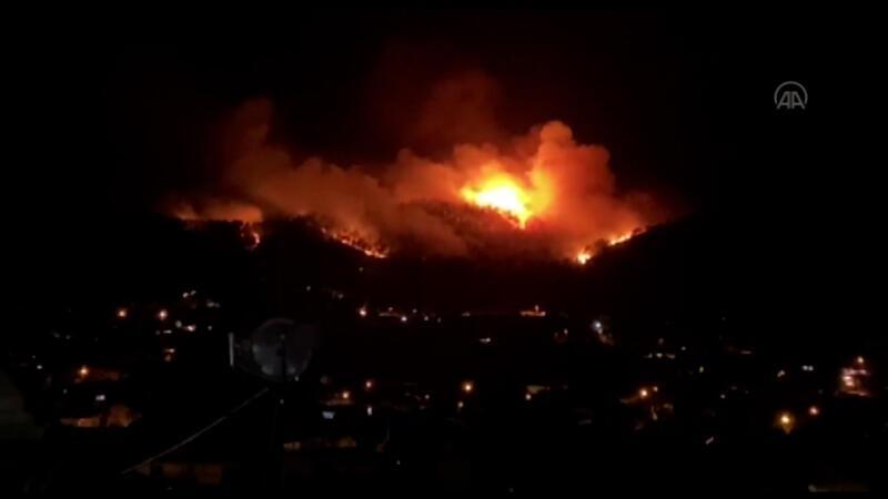 Turizm cenneti Fethiye'de orman yangını