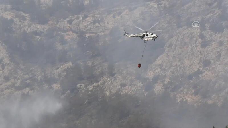 Mersin Silifke'deki orman yangınını söndürme çalışmaları devam ediyor
