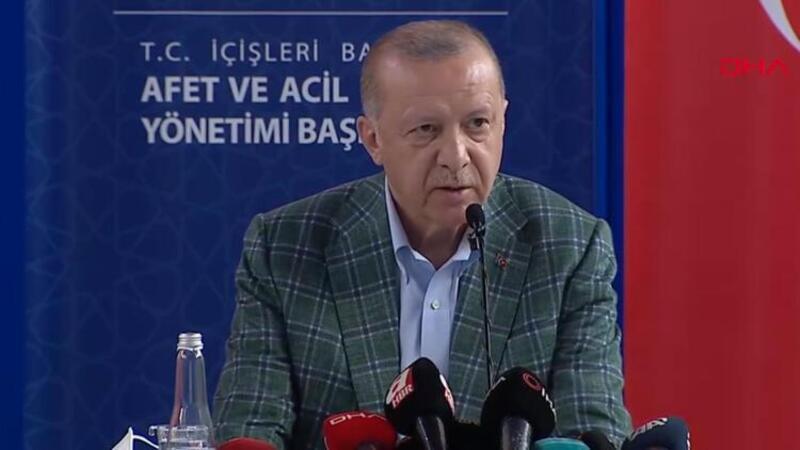 Cumhurbaşkanı Erdoğan, afet bölgesinde açıklamalarda bulundu