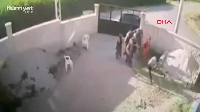 Konya'da aynı aileden 7 kişiye yapılan silahlı saldırı anı